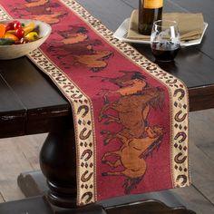 Horse+Tapestry+Table+Runner