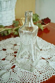 vintage lace bottle