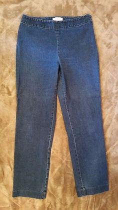 Talbots Classic Side Zip Skinny  Dark Indigo Stretch Denim Jeans SIZE 8 #Talbots #SlimSkinny