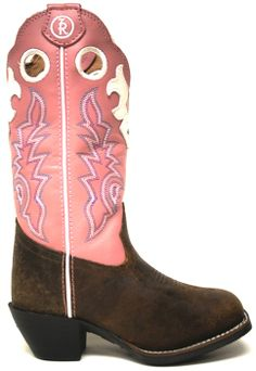 Tony Lama Kids' Pink and Brown Timmarron Boots -- Don't forget to find a cute pair of cowgirl boots for your flower girl! #PrettyInPink | SouthTexasTack.com