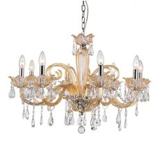 Trans Globe 8 Light Chandelier with Champagne Finish - HG-8 CHMP