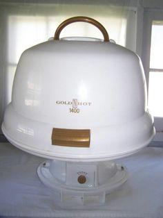 Belson Gold N Hot 1400 Portable Hair Dryer Hard Bonnet Full Hood GH2270 #Belson