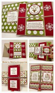 Stampin' Up! Envelope Punch Board Nikas Hexerei: Weihnachtliche Endloskarte mit Umschlag
