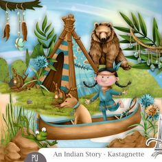 kit An Indian Story by Kastagnette http://digital-crea.fr/shop/?main_page=index&manufacturers_id=173
