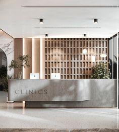 Clinic Interior Design, Lobby Interior, Clinic Design, Restaurant Interior Design, Interior Architecture, Interior And Exterior, Commercial Design, Commercial Interiors, Cabinet Medical