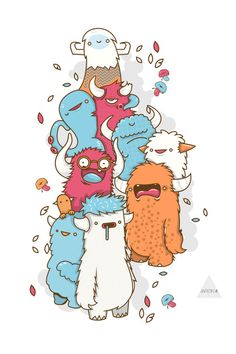 MONSTERS!!! by AARON MARTINEZ, via Behance