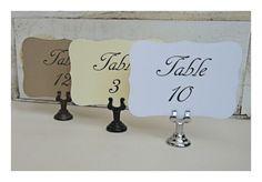 Wedding Table Numbers, Ivory, White, Kraft, Vintage Table Numbers