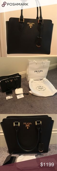 BRAND NEW PRADA Saffiano Bag Brand new, bought this for my mom but she didn't want it. Comes with the original dust bag, authenticity card, original tag. Never used! Cross body strap included. Prada Bags Totes