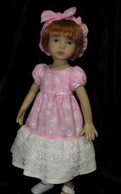 "Butterflies in Pink for 13"" Dianna Effner's Little Darlings Dolls"