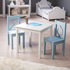 Have to have it. Lipper Hugs and Kisses Table and 2 Chair Set - Gray ...