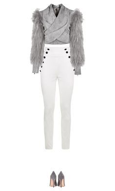 """""""Untitled #2786"""" by nineteen92 ❤ liked on Polyvore featuring Tommy Hilfiger, Balmain and Gianvito Rossi"""