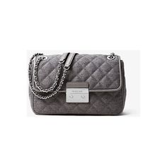 619a776160a ... NWT Auth Michael Kors Quilted Wool Sloan Large Chain Shoulder Crossbody  Bag .