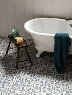 Salvaged Spanish tile; via http://www.luxurystyle.es