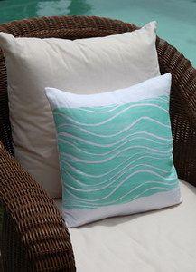 Waves Coastal Decor Pillow