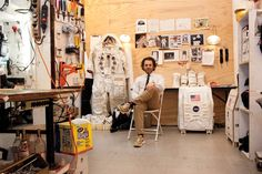 Tom Sachs prepares for liftoff in his New York Studio