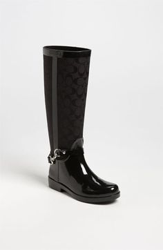 COACH 'Lux' Rain Boot (Women) available at #Nordstrom -- but you couldn't possibly use them for what rain boots are intended for!