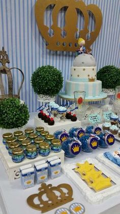 Eventos Romina D's Birthday / Birthday - Photo Gallery at Catch My Party Diy 1st Birthday Cake, Boys 1st Birthday Party Ideas, 1st Birthday Photos, Baby First Birthday, First Birthday Parties, First Birthdays, Prince Party Theme, Prince Birthday Theme, Little Prince Party