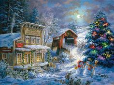 Old Country store at christmas time //  by Nicky Boehme