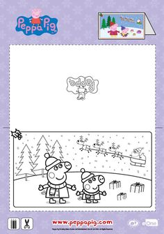 """Make your very own Peppa Pig Christmas cards this holiday and send it to your favorite friends! Then head over to watch """"Peppa's Christmas"""" on iTunes for more Peppasodes! http://apple.co/1TgaDIF"""