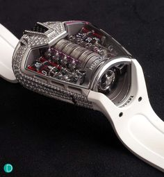 "Hold up...this is a watch?!?!?! The Hublot MP-05 ""LaFerrari"", with diamonds this time."