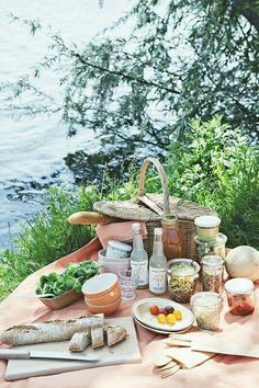 """18 Delicious & Portable Picnic Recipes - Camille Styles Ry some nice recipes for by the river date when u find """"runner man""""! Picnic Time, Summer Picnic, Beach Picnic, Picnic Parties, Outdoor Parties, Summer Bucket, Spring Summer, Summer Fun, Picnic Foods"""