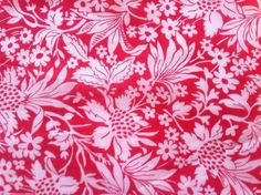1930s White and Red Vibrant Floral Print on by lostnfounddrygoods, $76.00