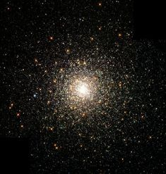 This stellar swarm is M80 (NGC 6093), one of the densest of the 147 known globular star clusters in the Milky Way galaxy. Located about 28,000 light-years from Earth, M80 contains hundreds of thousands of stars, all held together by their mutual gravitational attraction. Globular clusters are particularly useful for studying stellar evolution, since all of the stars in the cluster have the same age (about 15 billion years), but cover a range of stellar masses. Every star visible in this…