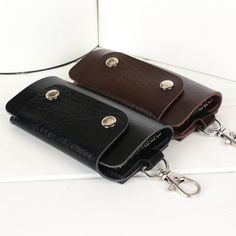 New 2015 men women key holders leather housekeeper car key case bag carteira masculina couro cover for key Free Shipping 45