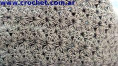 Punto jazmin en tejido crochet, tutorial paso a paso 2.
