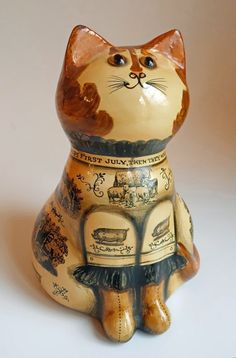 1970 RYE Papier Mache CAT Joan & David de Bethel RARE EARLY Farming  ENGLAND in Collectibles, Animals, Cats, Figurines | eBay