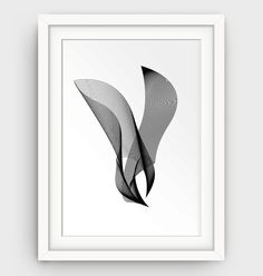 Minimalist Bird Art Abstract Print Modern Art by GalliniDesign
