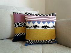 Cojín de lana tejido a mano - decoración y accesorios para el hogar - en DaWanda.es