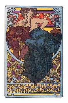 Alphonse Mucha Illustration