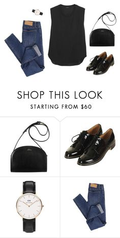 """""""Basics 4"""" by catwomaan ❤ liked on Polyvore featuring A.P.C., Topshop, Daniel Wellington, Cheap Monday and Theory"""