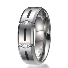 Titanium Wedding Band Titanium Ring  7MM High by JewelrySquare, $19.99