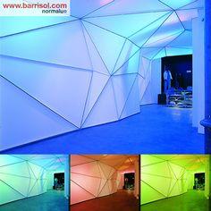 Barrisol Lumière Color Walll : realizations