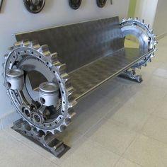 ◆ Visit ~ MACHINE Shop Café ◆ (Industrial Mechanical Bench)
