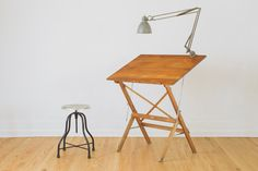 vintage folding Anco drafting table
