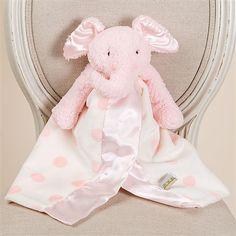 Christening Gifts - Pink Elephant Buddy Blanket