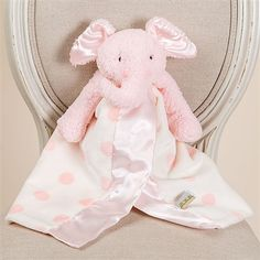 Christening Gifts - Pink Elephant Buddy Blanket