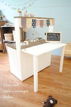 2WAYままごとキッチン作りました&掲載誌のお知らせ*簡単木工家具STYLE |Chairs and. ナチュラルなインテリアと雑貨と手作りと、日々のこと。
