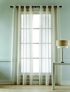 Studio cotton linen grommet-top sheer panel curtains