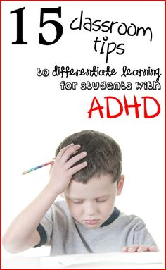 StudentSavvy: 15 Strategies to Help Students with simple and effective strategies to use in the classroom for students diagnosed with Attention Deficit Hyperactivity Disorder (ADHD) Adhd Strategies, Teaching Strategies, Teaching Tips, Classroom Behavior, School Classroom, Classroom Activities, Behavior Management, Classroom Management, Types Of Learners