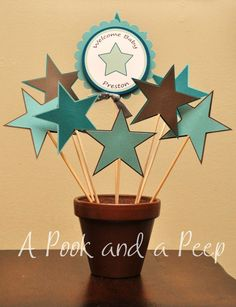 All Star Baby Shower Personalized Table Top Centerpiece Decoration Custom Colors on Etsy, $26.00 Star Centerpieces, Star Decorations, Centerpiece Decorations, Baby Shower Themes, Shower Ideas, Theme Ideas, Party Ideas, Gender Party, Yellow Daisies
