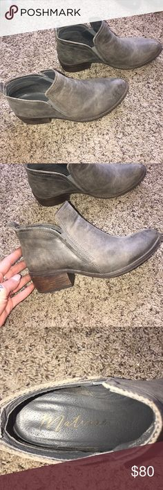 MATISSE BOOTIES Distressed Matisse grey booties Size 8 2 inch heal  Good condition Matisse Shoes Ankle Boots & Booties