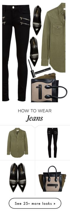 """street style"" by ecem1 on Polyvore featuring Paige Denim, Yves Saint Laurent and Chanel"