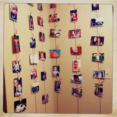 hanging photo wall.