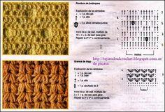 MAS PUNTOS PARA TEJER A GANCHILLO Crochet Stitches, Blog, Crochet Ideas, Embroidery Stitches, Graph Crochet, Patrones, Tejidos, Art, Blogging