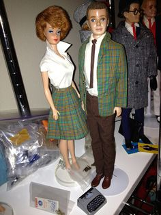 Ken College Student & Barbie with matching skirt