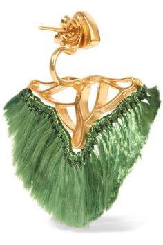 Katerina Makriyianni | Gold-plated, quartz and agate earrings | NET-A-PORTER.COM